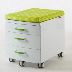 Przenośny, nowoczesny kontejner , box z pokryciem - biało-zielony