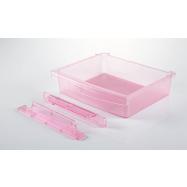 Szuflada pod półkę różowa