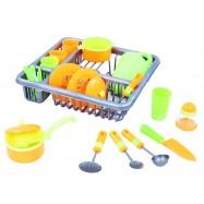 Suszarka do naczyń z naczyniami - zestaw dla dzieci