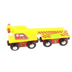 Bigjigs Toys Wagon z dźwigiem