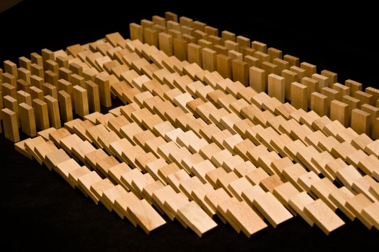 DABO Dřevěné domino v tubě 800 ks natural