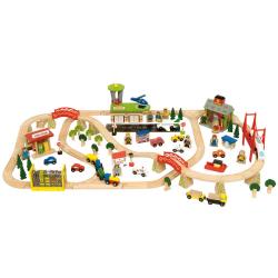 Bigjigs Toys Kolejka Drewniana Transport Pasażerski