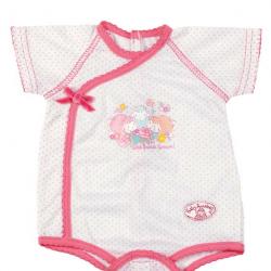 Baby Annabell - Bielizna dla lalki białe body w kropeczki 794593 B, 46 cm