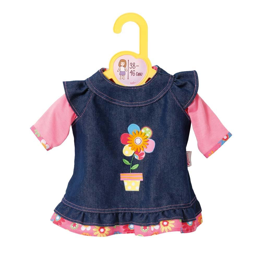 Dolly Moda Džínové šatičky 38-46 cm 870006