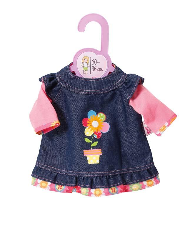 Dolly Moda Džínové šatičky 30-36 cm 870013