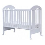 Łóżeczko dziecięce ścarlett Jarda ze zdejmowanym bokiem, buk - białe 120x60 cm