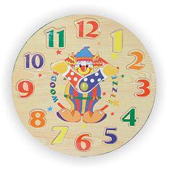 Vkládací výukové puzzle - Hodiny klaun