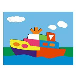 Vkládací puzzle - Vkládačka - Loď parník