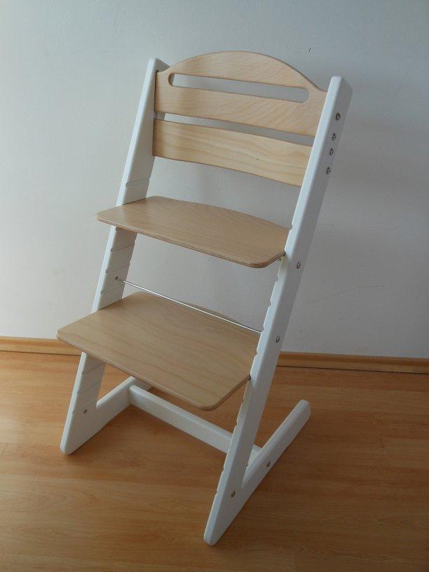 Dětská rostoucí židle Jitro Baby bílo-buková