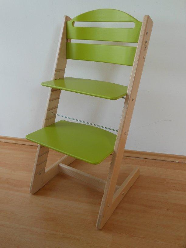 Dětská rostoucí židle Jitro Baby bukovo-světle zelená