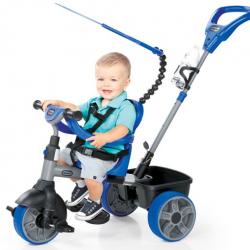 Little Tikes - Rowerek trójkołowy 4 w 1 niebieski z gumowymi kołami