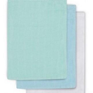 Žínka Jollein 3 ks Mint, white, lagoon