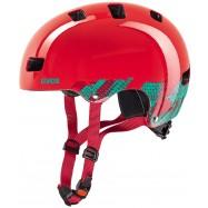 Dětská helma UVEX  KID 3 BLACKOUT RED 55 - 58 cm
