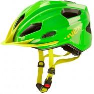 Dětská helma UVEX  QUATRO JUNIOR GREEN-YELLOW 50 - 55 cm