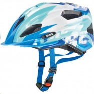 Dětská helma UVEX QUATRO JUNIOR, BLUE-WHITE 50 - 55 cm