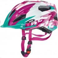 Dětská helma UVEX  QUATRO JUNIOR  WHITE-PINK 50 - 55 cm