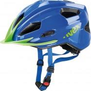 Dětská helma UVEX  QUATRO JUNIOR BLUE-GREEN 50 - 55 cm