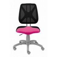Rostoucí židle Fuxo síť růžovo černá 0063