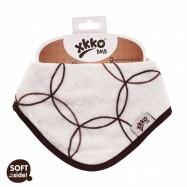 Bambusový dětský slintáček/šátek XKKO BMB   Natural Circles
