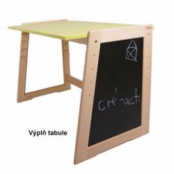 Výplň bokov pre rastúci stôl Jitro Cré-acti čierna tabuľa