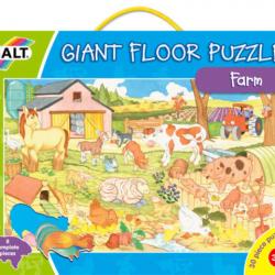 Velké podlahové puzzle  na farmě