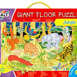 Velké podlahové puzzle  zvířátka v džungli