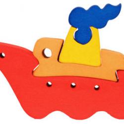 Dřevěné minipuzzle - Loď