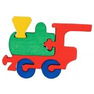 Dřevěné minipuzzle -Lokomotiva 4 díly