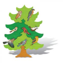 Puzzle dřevěné - Fauna Severní Evropa, masiv 13 dílů