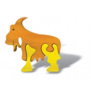 Dřevěné minipuzzle - Koza