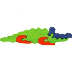 Dřevěné minipuzzle - Krokodýl