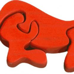 Dřevěné minipuzzle - Lišák