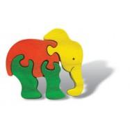 Dřevěné minipuzzle - Slon