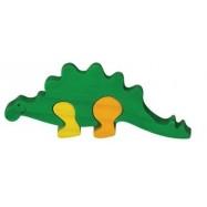 Dřevěné mini puzzle - Stegosaurus