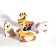 Dřevěné minipuzzle sada - Severní pól 16 dílů