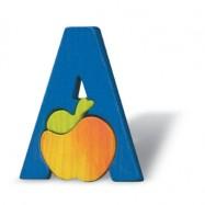 Puzzle písmena - A - Jablko