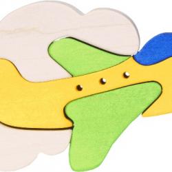 Dřevěné minipuzzle - Letadlo