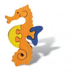 Dřevěné mini puzzle - Mořský koník