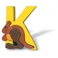 Puzzle písmena - K - Klokan