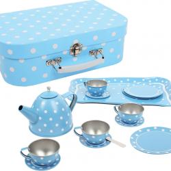 Bigjigs Porcelanowy zestaw do herbaty niebieski