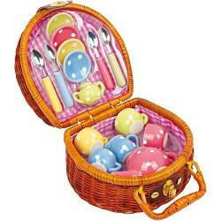 Piknikový kufrík Čajová párty, 17 dielny