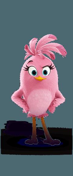 Angry Birds: 3D figurka 7-8,5 cm s nylon přívěskem Stella