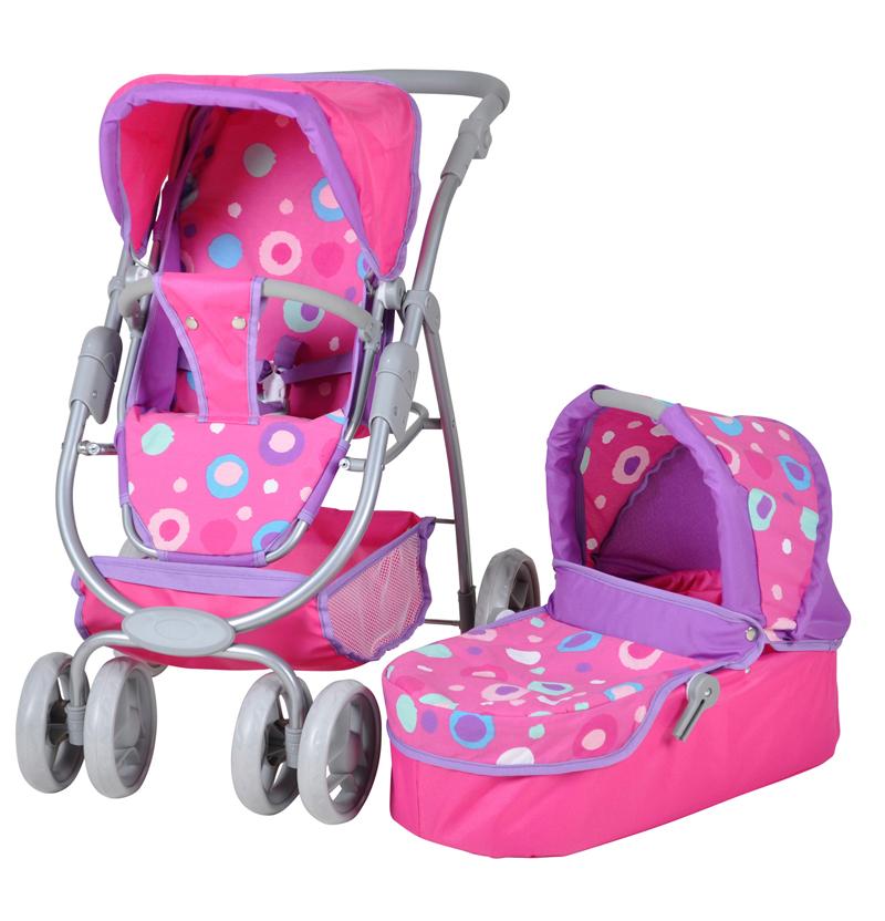 Kočárek pro panenky 90715 COCO pink splash