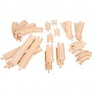 BIGJIGS RAIL Drewniane tory – zestaw 24 części