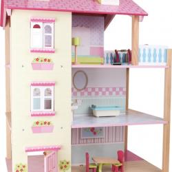 Domček pre bábiky Ružová vila