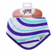 XKKO BMB Bambusový dětský slintáček/šátek - Ocean Blue Waves