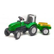 Traktor šliapací Lander 240X s prívesom zelený