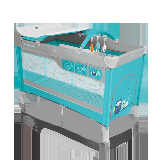 Baby Design Cestovná postieľka Dream - 05 tyrkysová