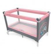 Baby Design Cestovná postielka Simple - 08 růžová