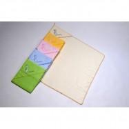 Ręcznik z kapturem Puppolina Żyrafa, biały